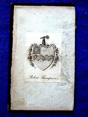 ROBERT THOMPSON Bookplate Family Crest & Coat of Arms