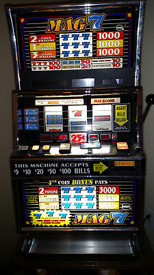 """IGT+ """"MAG 7"""" SLOT MACHINE  Quarter and Bill acceptor - LOCAL PICK UP ONLY"""