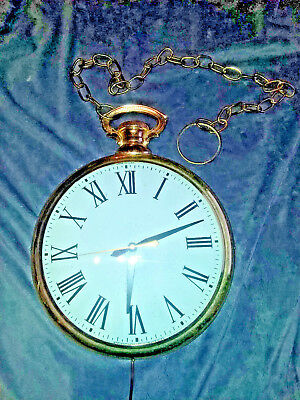 Vintage United Metal Goods Pocket Watch Wall Clock Model 4070 13 inches Oversize