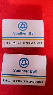 2 Vintage Southern Bell Telephone Match Boxes Executive Park Learning Center