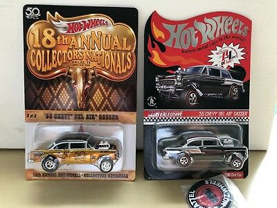 2018 HOT WHEELS 18th Nationals '55 Chevy Bel Air Gasser MATCHING # SET OF  TWO!