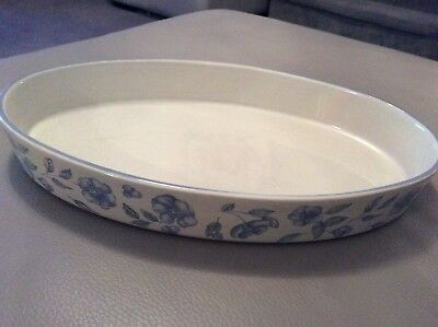BHS Bristol Blue Large Oval Flan Dish Lovely Condition 34cm x 21cm
