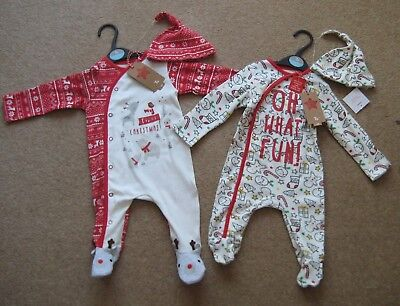 Baby My First Christmas or Oh What Fun Christmas Babygrow Babygro Various Sizes