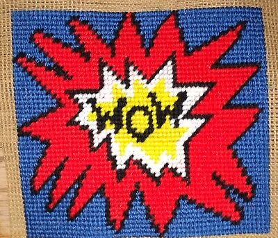 Mini Modern Tapestry: Unique Handmade 'WOW' Sampler