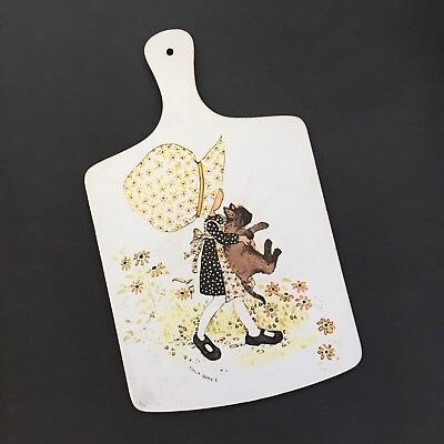 Vintage Retro Holly Hobbie Hobby Cutting Bread Board Kitchen Collectible 1970s
