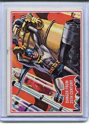 1966 Topps Batman Danger From 25th Century Red Shield Card # 29a EX-