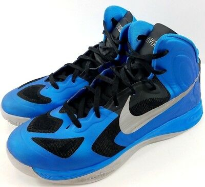 wholesale dealer 4de16 4d98a Mens NIKE Zoom Hyperfuse Basketball Shoes High Top Blue Black Size 13 EUR  47.5