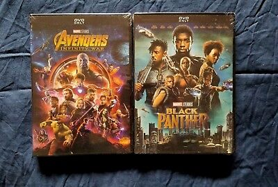 Avengers Infinity War + Black Panther DVD Bundle Marvel Movies New Free Shipping