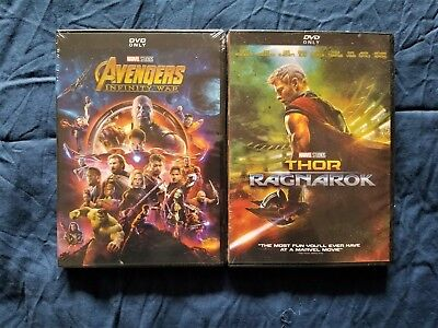Thor: Ragnarok + Infinity War DVD New Avengers Bundle Marvel Movies Sealed