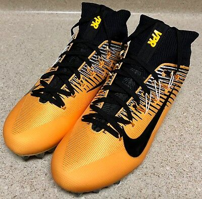 NIKE VAPOR UNTOUCHABLE 2 FOOTBALL CLEATS Sz 10.5 BLACK GOLD STEELERS 835646-725