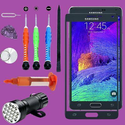 For Samsung Galaxy Note 4 Front Touch Screen Glass Lens Replacement Tools Kits