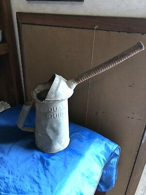 Old Vintage Antique Galvanized Tin Garden Watering Water Can