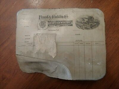 Antique Lithograph Printing Stone (c. Early 1900's) Newark NJ,  Buffalo NY