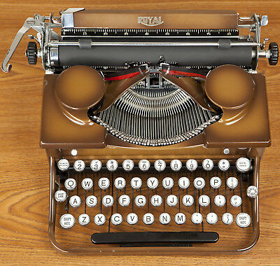 Vintage 1933 Royal P Model Typewriter Restored New Platen with case and warrenty
