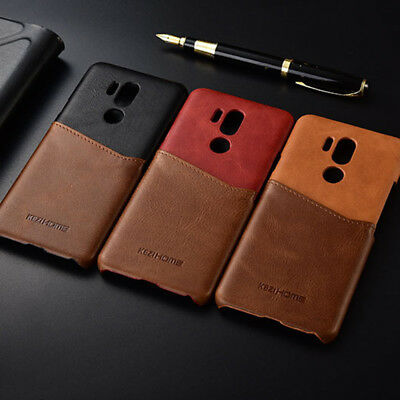556ab0cb3a24 KEZIHOME GENUINE LEATHER Splice Card Slot Case Cover For LG G7 ThinQ ...