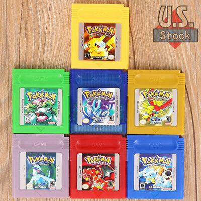 New Gameboy Cartridge Game Card For Nintendo Pokemon GBC/GBA/SP 7 Styles gift US