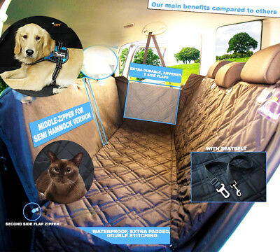 Dog Pet Car Seat Cover Waterproof Washable Hammock Protection with Pockets