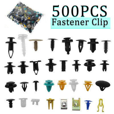 500PcsMixed Auto Bumper Fender Clips Bumper Fender Trim Plastic Rivet Door Panel