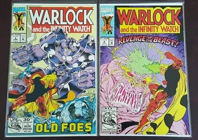 Warlock and the Infinity Watch #5 & #6 (1992, Marvel Comics) VF/NM