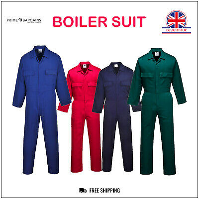 Portwest Mens Boiler Suit Euro Overalls Coverall Workwear Student Mechanics S999