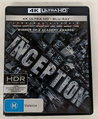 INCEPTION 4K ULTRA HD + BLU-RAY oz seller Leonardo Dicaprio UHD HDR DVD