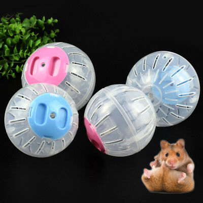Hamster Exercise Running Ball Play Toy 10/12 Plastic Pets 2 Size Health Funny