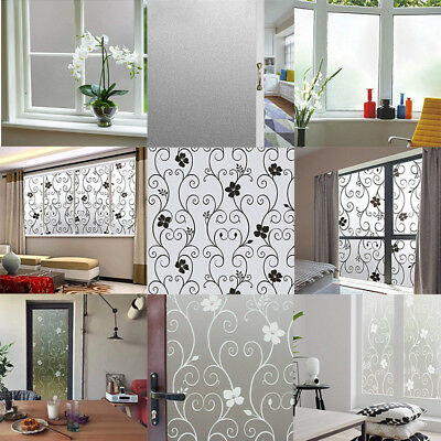 Glass Window Door Privacy Film Sticker Bathroom Home Office PVC Frosted 60 /90CM