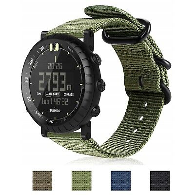 For Suunto Core Watch Band Woven Nylon Replacement Sport Strap w/Metal Buckle