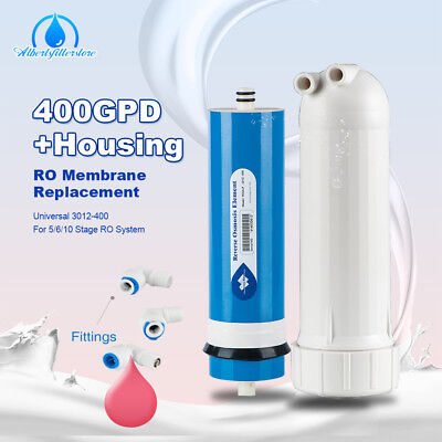 TOP 400 GPD RO Reverse Osmosis Membrane Water Filter With Fittings Purifier Set