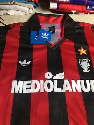 AC Milan Adidas Originals shirt size M retro vintage New with tags 100%Authentic