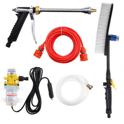 Portable 100W High Pressure Washer Brush Wash Pump Pipe Car Electric Charger 12V