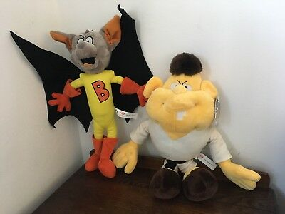 "Batfink & Karate Man Martial Arts Side Kick Plush 13"" 1980's Cartoon Series."