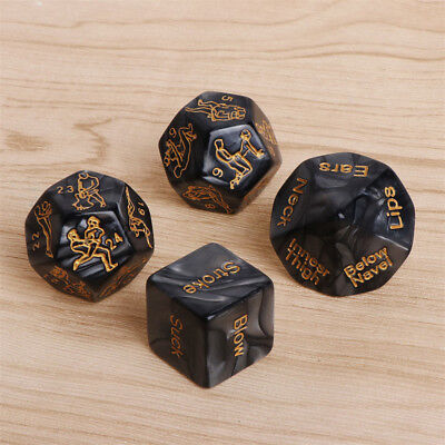 4Pcs Sex Game Love Dice Sex Position Dices for Couples Lovers Foreplay Prop Toy