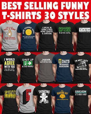 Mens Funny Slogan T-Shirts Novelty Shirts Sarcastic Shirt Rude Joke Gift Top Tee