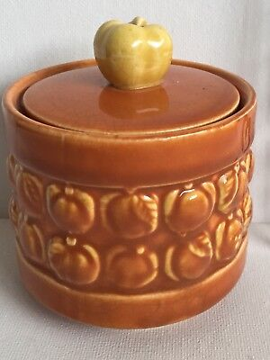 REDUCED !!!!  Vintage Ceramic Peach Bowl with Fruit Lid - Made in Japan