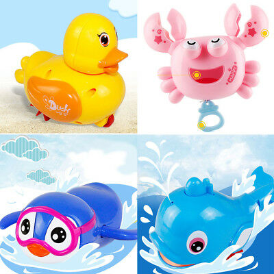 Wind Up Clockwork Cute Animal Kid Baby Swimming Favor Bath Time Play Toy Selling