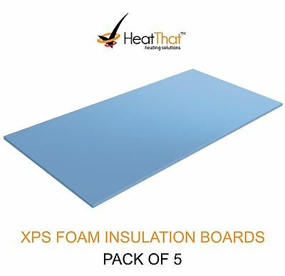 Electric Underfloor Heating Insulation Boards 1200 x 600 x 10mm  | 5 Pack