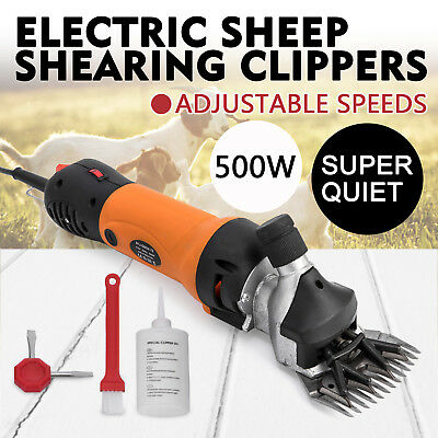 500W Electric Sheep Goat Shears Clippers Animal Shave Portable Llamas Compact