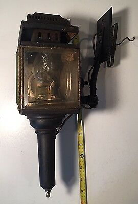 Antique Carriage Lantern Lamp Buggy Beveled Glass ~ Wired For Home Use