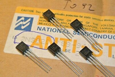2N3820 JFET P-CH Transistor 20V 0.35W TO92 National Semiconductor [QTY=5pcs]