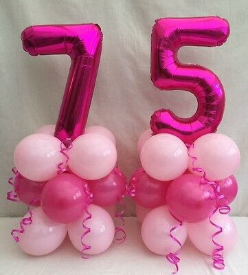 75th Birthday Balloon Kit Table Centre Display Partygirls