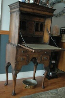 18TH c.CHESTER CO. NOTTINGHAM PENN. PHILADELPHIA DESK HIDDEN DRAWER TIGER VENEER