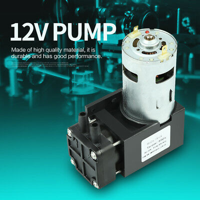 1pc Durable DC12V 42W Mini Small Oilless Vacuum Pump -85KPa Flow 40L/min