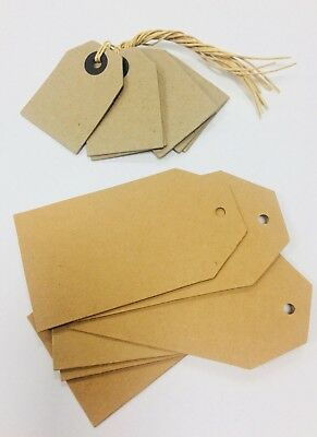 East of India Kraft Card Luggage Labels gift place card premium tags x 6 retro