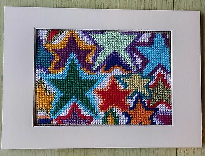 Modern Tapestry: Unique Handmade 'Mini Stars' Sampler