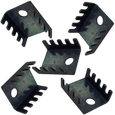 TO126 TO220 Transistor Heat Sink Anodized Aluminium 5x9.5x16mm  ( PACK OF 5 )