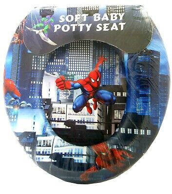 Spiderman Soft Padded Potty With Handle Toilet Training Seat,Official Licensed