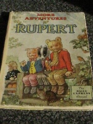 1953 Daily Express Rupert Annual - Free p/p (UK only)