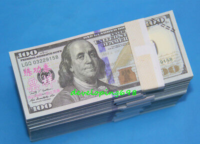 Prop Money $100,000 Highly Realistic Filler Prop Stacks Great for Filming