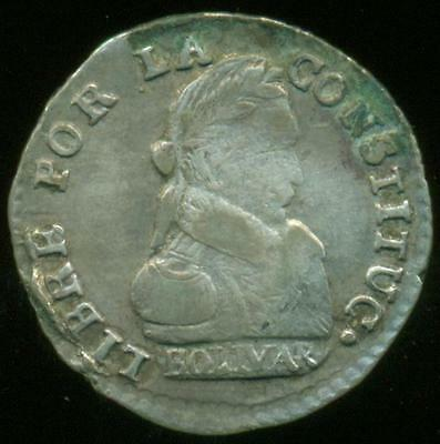 BOLIVIA POTOSI MINT SILVER COIN 1/2 SOL 1830 J.L. KM# 93.2a NICE COND. FOR TYPE